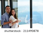 romantic happy young couple... | Shutterstock . vector #211490878