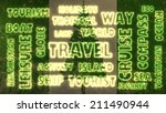 travel related tags cloud on... | Shutterstock . vector #211490944