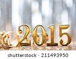 new year decoration 2015. | Shutterstock . vector #211493950