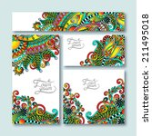 collection of decorative floral ... | Shutterstock .eps vector #211495018