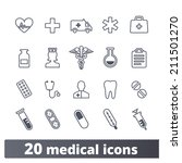 medical  health care icons ... | Shutterstock .eps vector #211501270