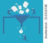 business man idea concept  | Shutterstock .eps vector #211510738