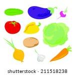 vegetables | Shutterstock .eps vector #211518238