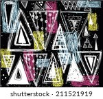 abstract seamless pattern in... | Shutterstock .eps vector #211521919