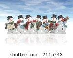 snowmen playing music... | Shutterstock . vector #2115243