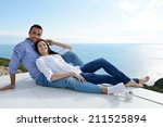 romantic happy young couple... | Shutterstock . vector #211525894