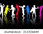dancing children | Shutterstock .eps vector #211526644