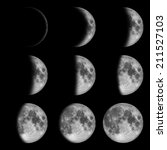 9 Phases Moon Lunar Dark - Fine Art prints