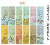 2015 calendar set with vertical ... | Shutterstock .eps vector #211528300