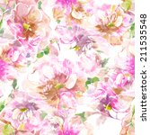 watercolor handmade floral... | Shutterstock . vector #211535548