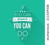 you can do it quote... | Shutterstock .eps vector #211539508