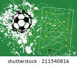 grungy soccer football ...