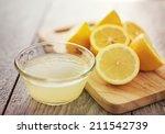 freshly squeezed lemon juice in ... | Shutterstock . vector #211542739
