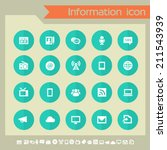 information icons on green... | Shutterstock .eps vector #211543939