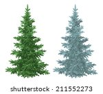 green and blue christmas spruce ... | Shutterstock .eps vector #211552273