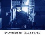 steel mills converter filling...   Shutterstock . vector #211554763
