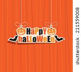 happy halloween hanging... | Shutterstock .eps vector #211559008