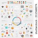 education infographic set with... | Shutterstock .eps vector #211568074
