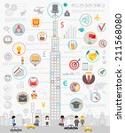 Business Infographic set with charts and other elements. Vector illustration.