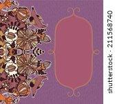 vector decorative floral... | Shutterstock .eps vector #211568740