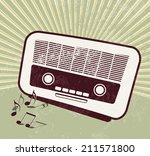 retro party   old radio | Shutterstock . vector #211571800
