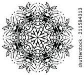 round ornament expressive... | Shutterstock .eps vector #211584313