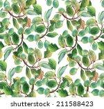 beautiful plum  seamless... | Shutterstock . vector #211588423