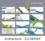 set of paper envelope templates ...   Shutterstock .eps vector #211589569