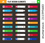 set of flat buttons for web... | Shutterstock .eps vector #211595683