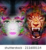 nature and human abstract... | Shutterstock . vector #211600114