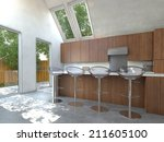in house wine area that adds... | Shutterstock . vector #211605100