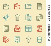 document web icon set 2  retro... | Shutterstock .eps vector #211607686