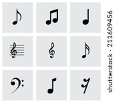 vector black notes icons set on ... | Shutterstock .eps vector #211609456