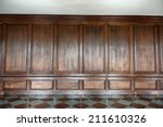 old medieval wood paneling... | Shutterstock . vector #211610326