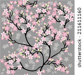 seamless background floral... | Shutterstock .eps vector #211611160