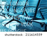 lounge with seats in the... | Shutterstock . vector #211614559