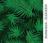 Seamless Tropical Jungle Flora...