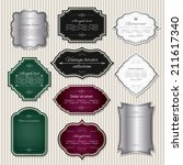 luxury labels and badges in... | Shutterstock .eps vector #211617340