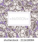 elegant invitation design | Shutterstock .eps vector #211618084