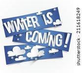 creative abstract winter is...   Shutterstock .eps vector #211618249