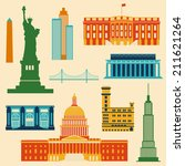 landmarks of united states of...   Shutterstock .eps vector #211621264