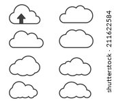 cloud icons for cloud... | Shutterstock .eps vector #211622584