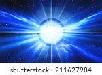 time warp  traveling in space... | Shutterstock . vector #211627984
