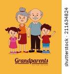 grand parents design over... | Shutterstock .eps vector #211634824
