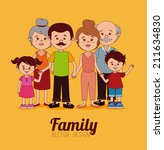 family design over yellow... | Shutterstock .eps vector #211634830