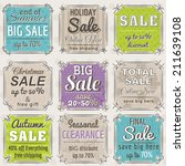 set of special sale offer... | Shutterstock .eps vector #211639108