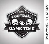 football shield | Shutterstock .eps vector #211643329