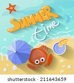Summer Time Poster. Vector...