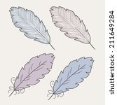 vector illustration pf feathers ... | Shutterstock .eps vector #211649284