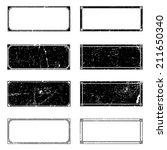 rectangle grunge frames set for ... | Shutterstock .eps vector #211650340